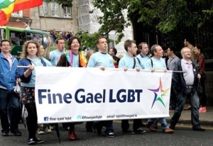 Fine Gael LGBT marching in Dublin Pride 2012