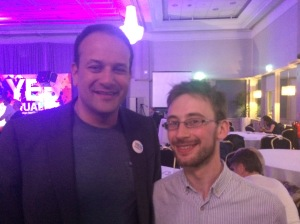 With Leo on the night of the count.